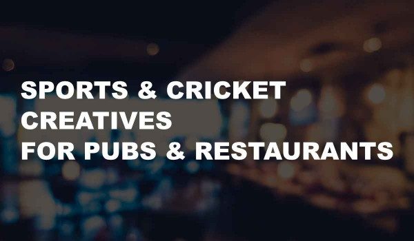 Successful Sports & Cricket Creatives for your Restaurant